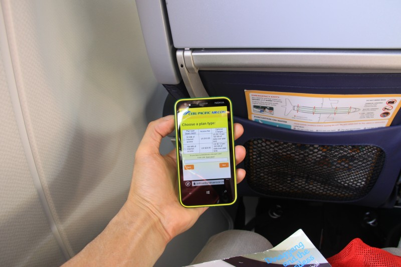 In-flight Wi-Fi access on board Cebu Pacific Air by OnAir