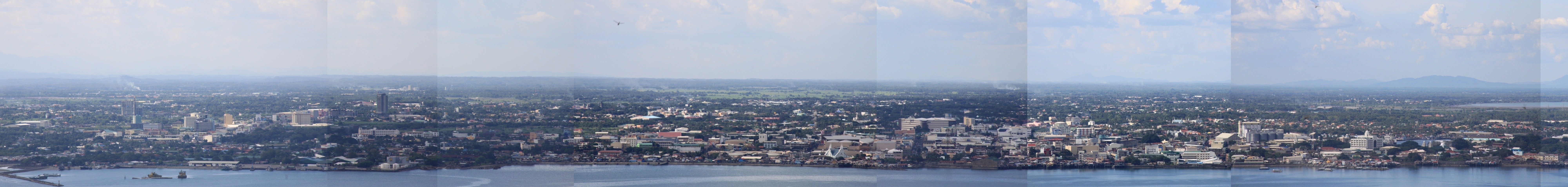 Iloilo Skyline and Cityscape as seen from Balaan Bukid in Jordan, Guimaras, the Philippines