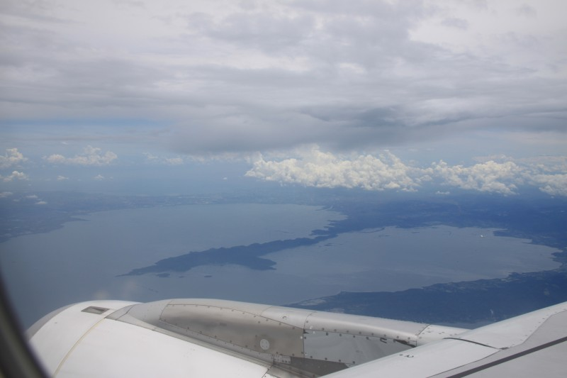 Laguna de Bay as seen from an airplane