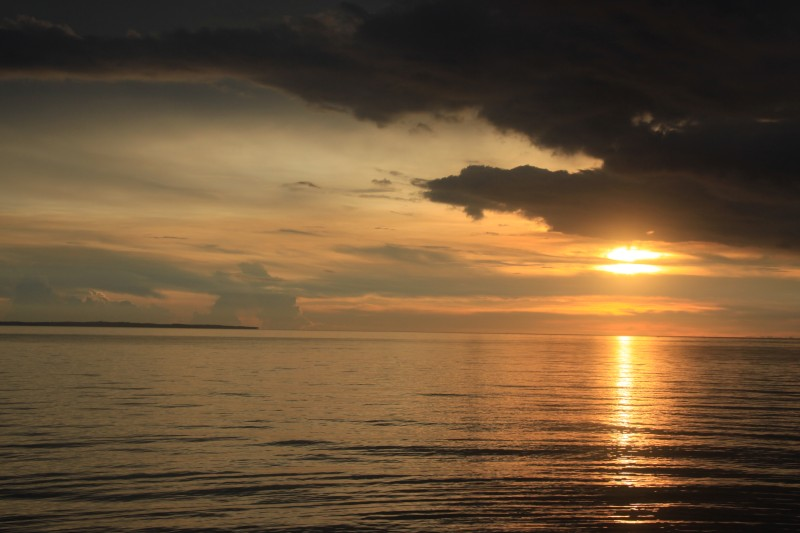 Sunset as seen from Atipolo, Naval, Biliran