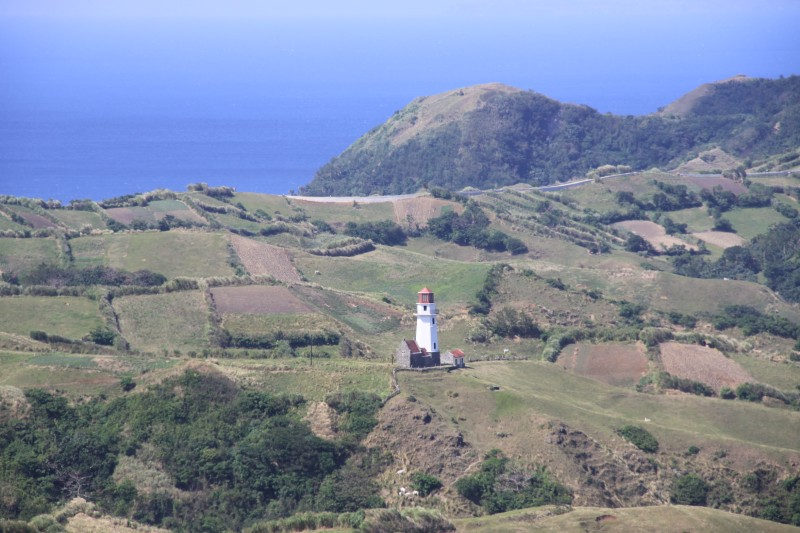 Tayid Lighthouse in Uvoy, Mahatao as seen from Rakuh-a-Payaman