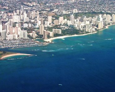 Aerial of Waikiki, Honolulu, Hawaii