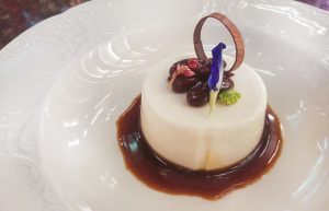 Coconut Panna Cotta with Red Beans and Gula Melaka